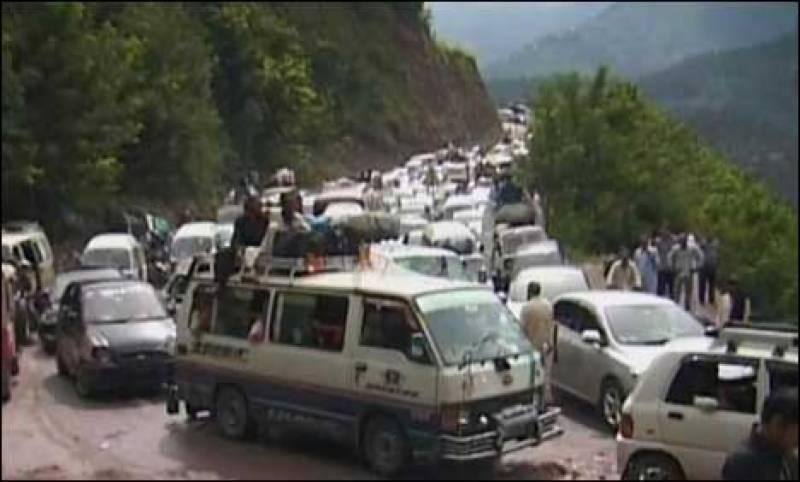وادی ناران ، کاغان میں سیاحوں کا رش،تقریباً 7 لاکھ افراد پہنچ چکے