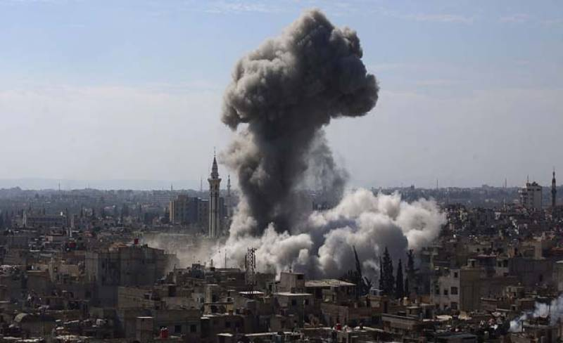 شام میں جنگی طیاروں کی بمباری، 30 شہری ہلاک، درجنوں زخمی