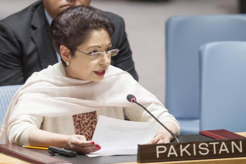پاکستان اقوام متحدہ کی قرار داد کی روشنی میں مسئلہ کشمیر کا پر امن حل چاہتا ہے ، ملیحہ لودھی
