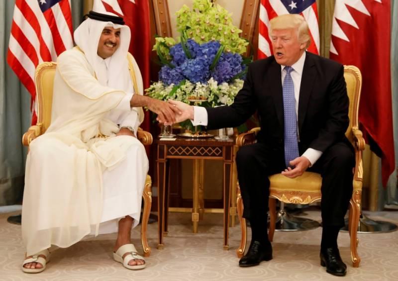 قطر تنازع ختم کرانے کیلئے امریکی صدر ڈونلڈ ٹرمپ سرگرم