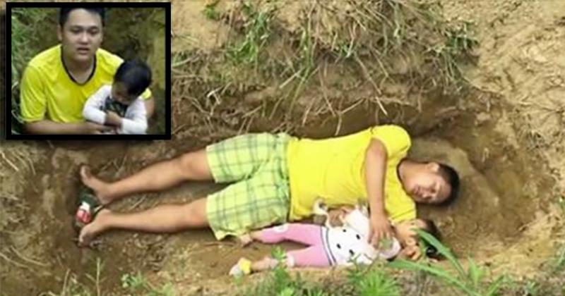 چین میں باپ نے غربت کی وجہ سے اپنی بیٹی کی قبر کھود لی