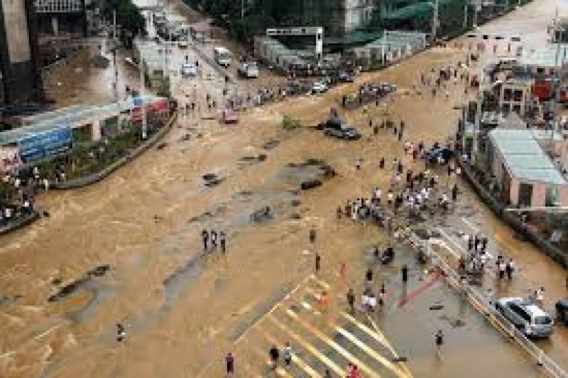 چین میں شدید بارشوں کے بعد سیلاب سے 18 افراد ہلاک