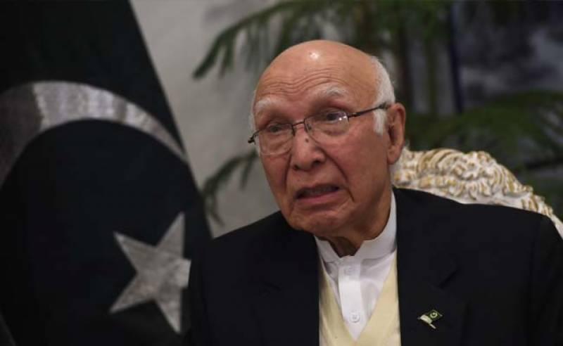 محفوظ افغانستان امریکہ اور پاکستان کے مفاد میں ہے، سرتاج عزیز