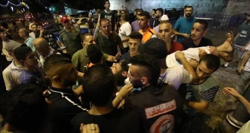 اسرائیلی پولیس کا تشدد، قبلہ اول کے خطیب سمیت 14 فلسطینی زخمی