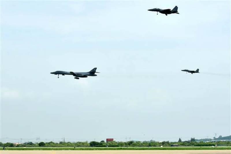 جزیرہ نما کوریا پر امریکی اور اتحادی لڑاکا طیاروں کی پروازیں