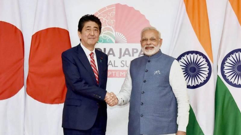 بھارت اور جاپان کے درمیان 15 معاہدوں پر دستخط