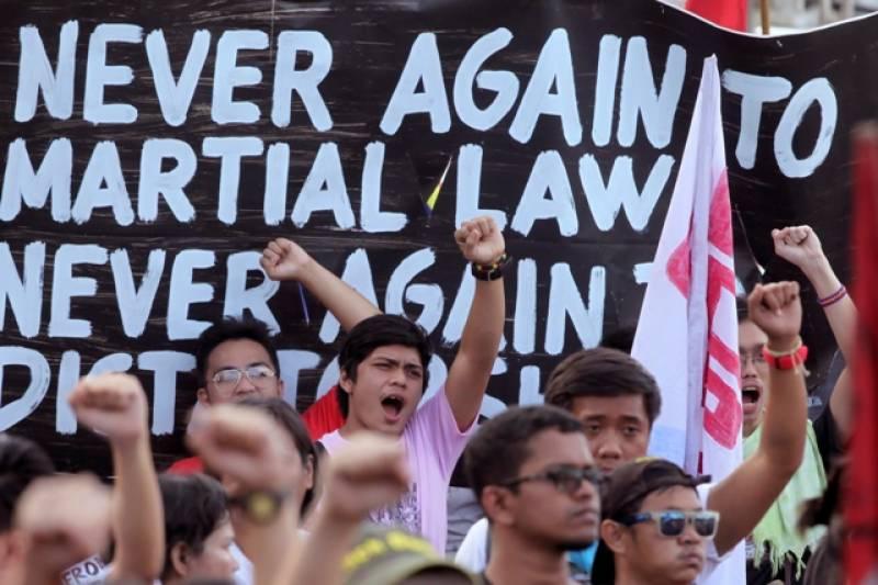فلپائن میں آئندہ ہفتے مارشل لا لگنے کا خطرہ