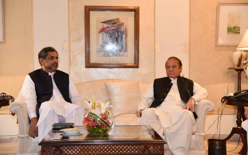 وزیراعظم شاہد خاقان عباسی سے نواز شریف کی ملاقات