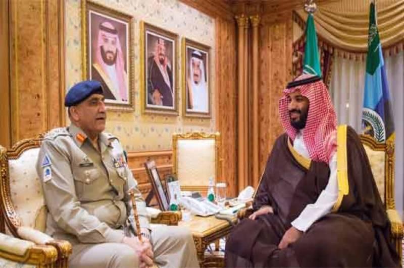 آرمی چیف کی سعودی ولی عہد سے ملاقات، اہم امور پر تبادلہ خیال