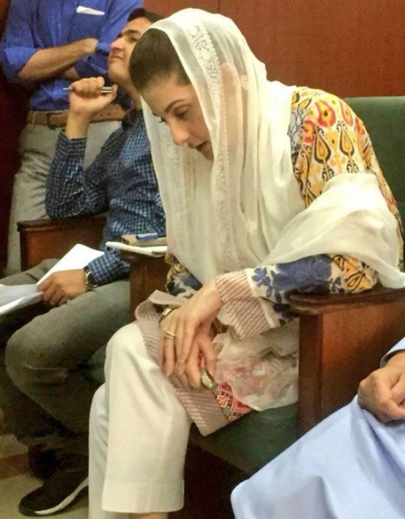 مریم نواز دوران سماعت کمرہ عدالت میں تسبیح پڑھتی رہیں