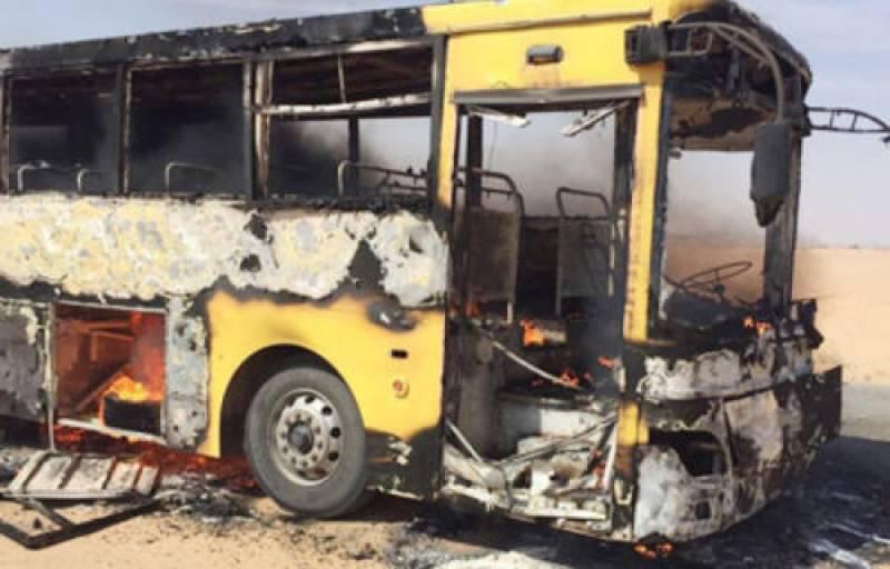 بس میں آتشزدگی، 10طالبات کو باحفاظت نکال لیا گیا