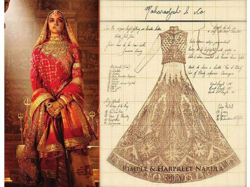 فلم پدماوتی میں دپیکا کے لبا س کا وزن کتنااور یہ لباس کس نے بنایا ؟