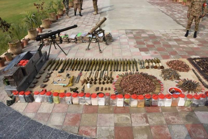 ژوب میں سیکیورٹی فورسز کی کارروائی، اسلحہ و بارود بر آمد