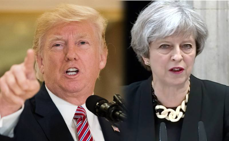 تھریسا مے میرے بجائے برطانیہ میں بڑھتی شدت پسندی پر توجہ دیں، ٹرمپ
