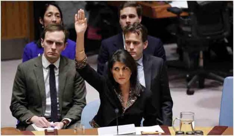 بیت المقدس سے متعلق فیصلے کی مخالفت کرنے والے ممالک کو امریکا کی دھمکی