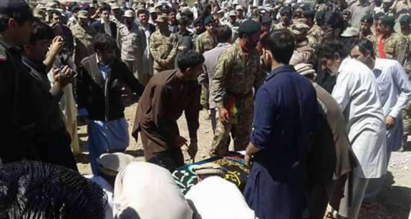 پاک فوج کے سپاہی محسن علی طوری شہید فوجی اعزاز کیساتھ سپرد خاک