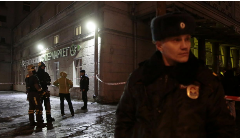 روس کے شہر سینٹ پیٹرز برگ کی سپر مارکیٹ میں دھماکہ، متعدد زخمی
