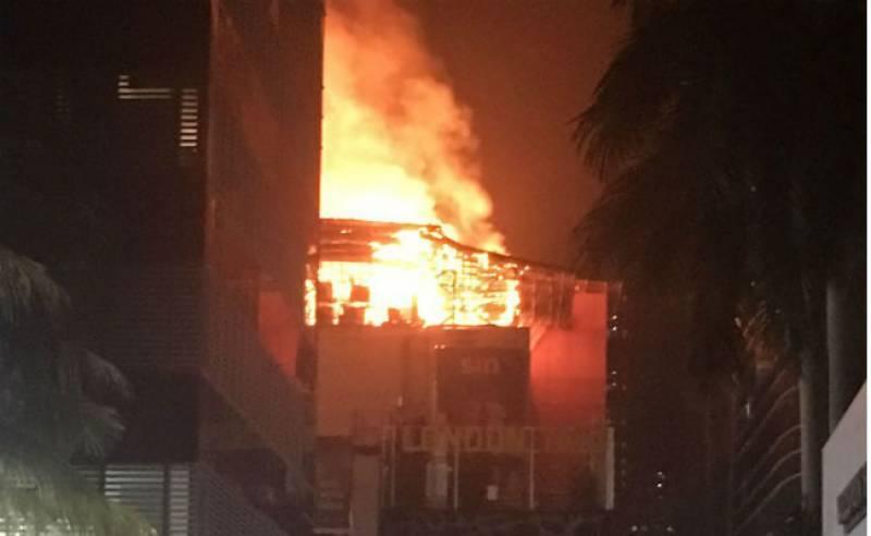 ریسٹورنٹ میں لگنے والی آگ نے مل کو لپیٹ میں لے لیا 14افراد ہلاک متعدد زخمی