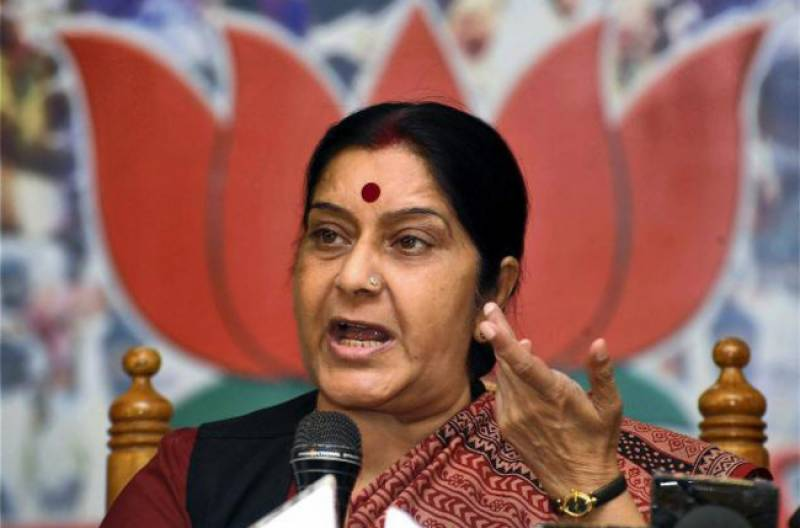 کشیدگی کے باعث پاک بھارت کرکٹ نہیں ہو سکتی، سشما سوراج