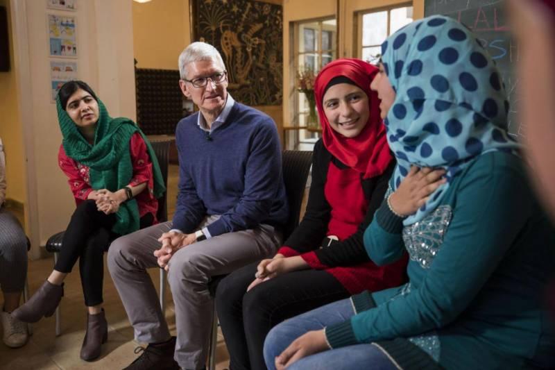 ملالہ فنڈ ، ایپل کے درمیان معاہدہ ، ایک لاکھ لڑکیاں تعلیم حاصل کرینگی