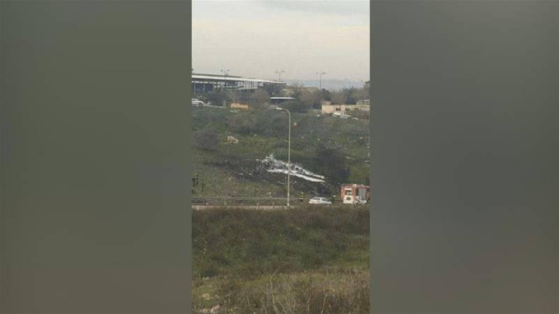 ایف 16 طیارہ شامی حدود میں مار گرایا گیا ہے، اسرائیلی حکام کی تصدیق
