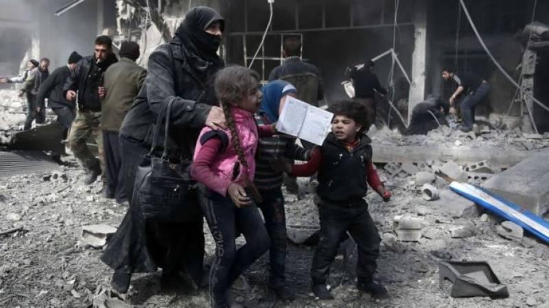 شام میں حکومتی فورسز کی بمباری سے درجنوں شہری ہلاک
