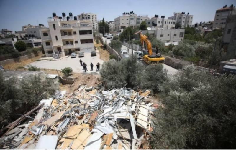 مقبوضہ بیت المقدس میں فلسطینیوں کے مکانات مسمار کرنے کے نوٹس جاری