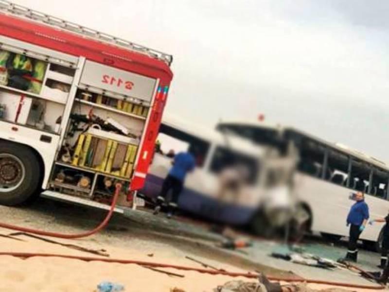 کویت میں 2 بسوں میں تصادم،3 پاکستانیوں سمیت 15 افراد جاں بحق