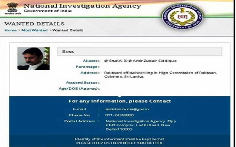 بھارت نے سری لنکا میں پاکستانی سفارتکار کو انتہائی مطلوب افراد کی فہرست میں شامل کر لیا