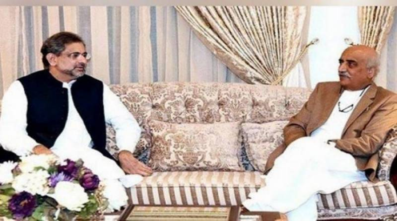 نگران وزیراعظم کے مجوزہ ناموں پر غورکیلئے شاہد خاقان عباسی اور خورشید شاہ کی ملاقات آج ہوگی