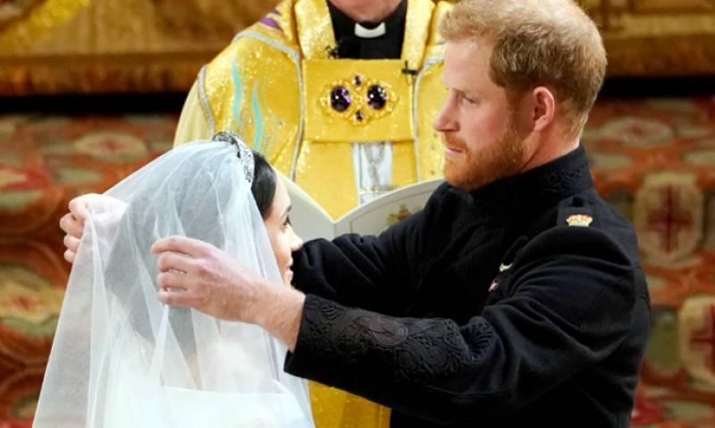 برطانوی شہزادے ہیری اور امریکی اداکارہ میگن مارکل کی شادی کی تقریب