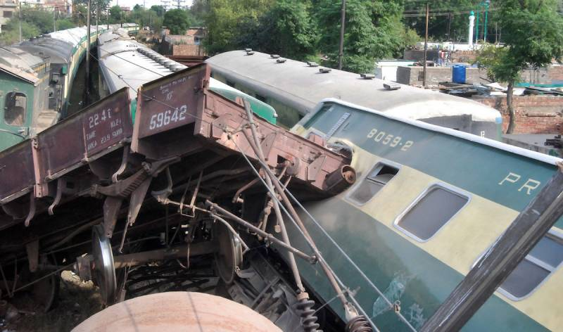 گرین لائن ٹرین اور مال گاڑی میں تصادم