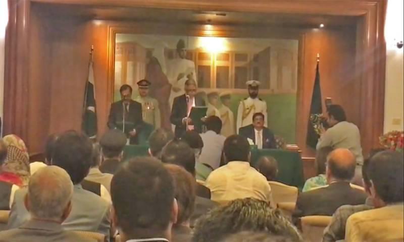 سندھ کے نگراں وزیر اعلیٰ فضل الرحمان نے حلف اٹھا لیا