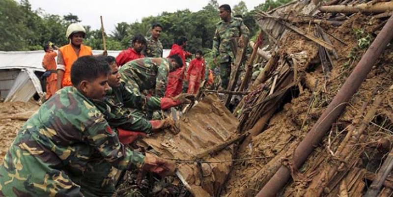 بنگلہ دیش: لینڈسلائیڈنگ سے روہنگیا مہاجرکیمپوں کے قریب 12 افراد ہلاک