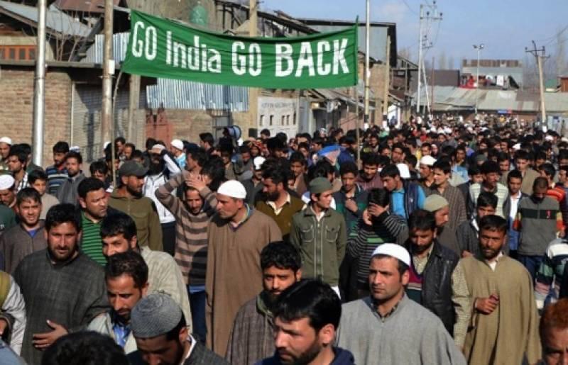 صحافی کے قتل کے خلاف مقبوضہ کشمیر میں ہڑتال جاری ، مظاہرے