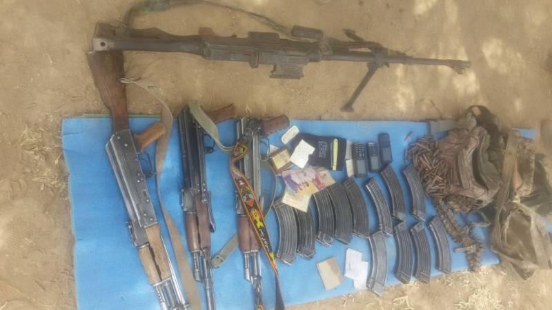 سبی سے 5 دہشت گرد گرفتار، اسلحہ اور مواصلات کے آلات برآمد