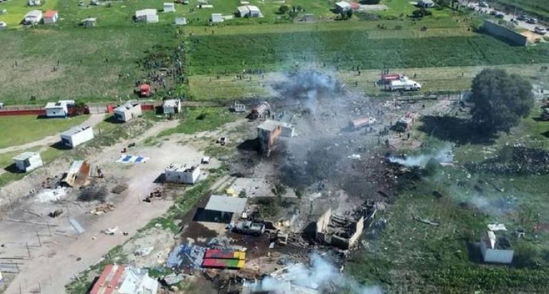میکسیکو میں آتش بازی کی فیکٹری میں دھماکے، 24 افراد ہلاک
