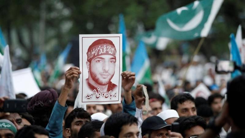 برہان وانی کی دوسری برسی سے قبل مقبوضہ کشمیر میں کشیدگی