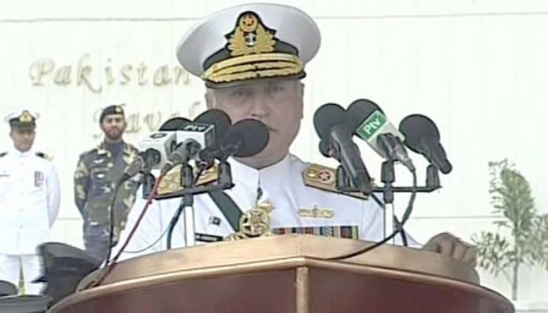 پاکستان کی امن کی خواہش کو کمزوری نہ سمجھا جائے، سربراہ پاک بحریہ