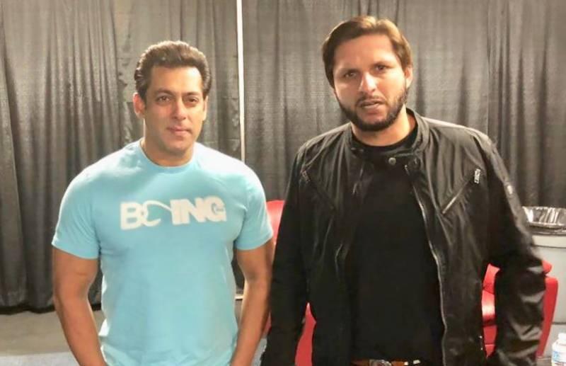 شاہد آفریدی اور سلمان خان کی تصاویر سوشل میڈیا پر وائرل