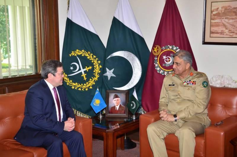 آرمی چیف جنرل قمر جاوید باجوہ سے قزاقستان کے سفیر کی ملاقات
