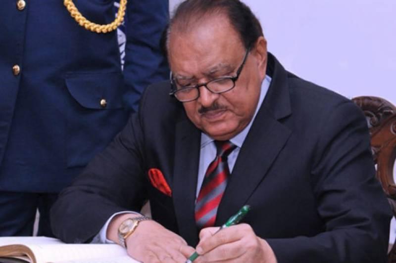 وزیر اعظم کی حلف برداری، صدر ممنون نے دورہ ملتوی کر دیا