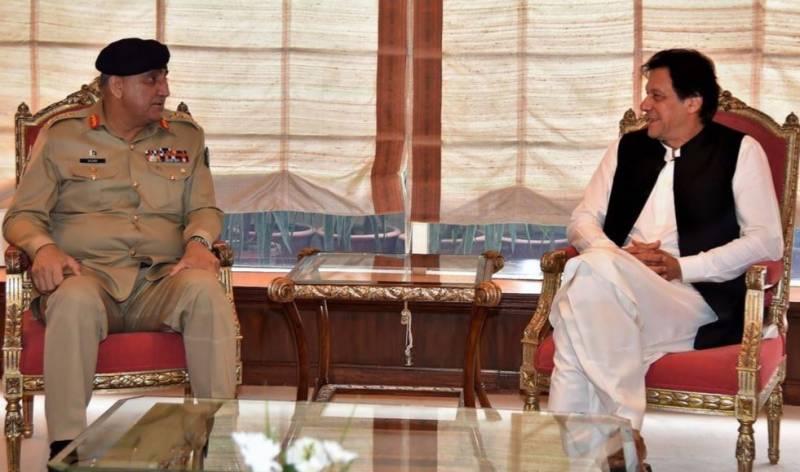وزیر اعظم عمران خان سے آرمی چیف کی ملاقات