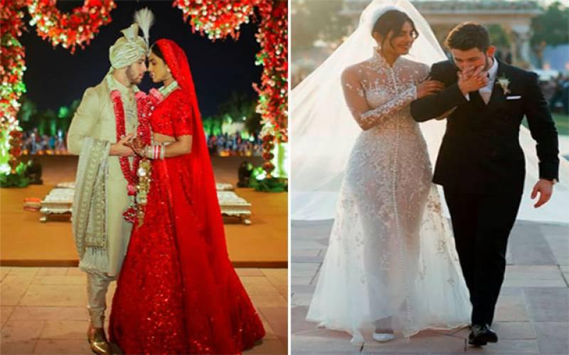 پریانکا چوپڑا، نک جونز کی شادی کی تصاویر سوشل میڈیا پر وائرل
