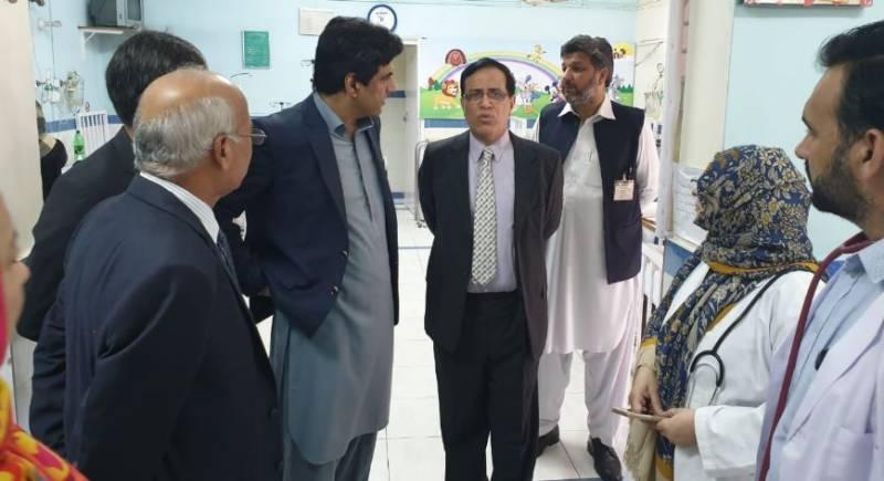 وزیراعظم کے معاون خصوصی علی نواز اعوان کا پمز ہسپتال کا دورہ