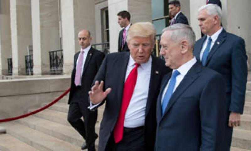ٹرمپ کی پالیسیوں سے خفا امریکی وزیر دفاع نے استعفیٰ دیدیا