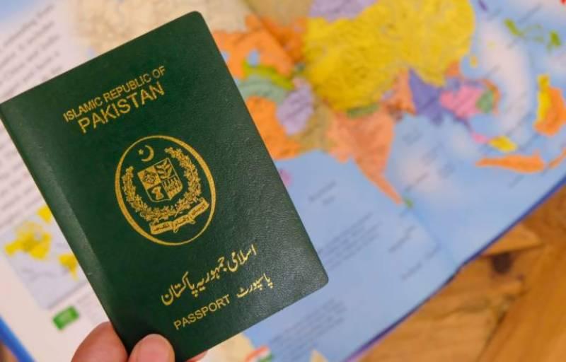 پاکستانی پاسپورٹ عالمی فہرست میں ایک سو دو نمبر پر آ گیا