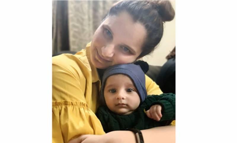 ثانیہ مرزا کی اپنے بیٹے کے ساتھ نئی تصویر وائرل