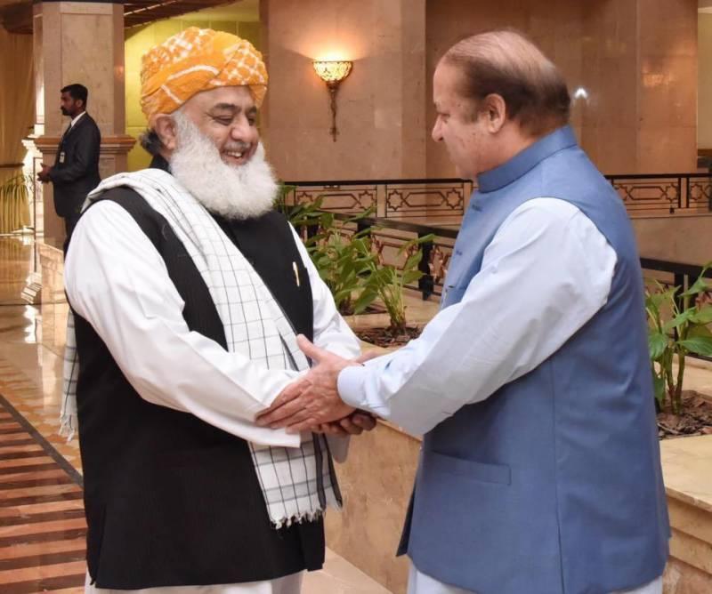 مولانا فضل الرحمن کی جاتی امرا آمد، نواز شریف سے ملاقات