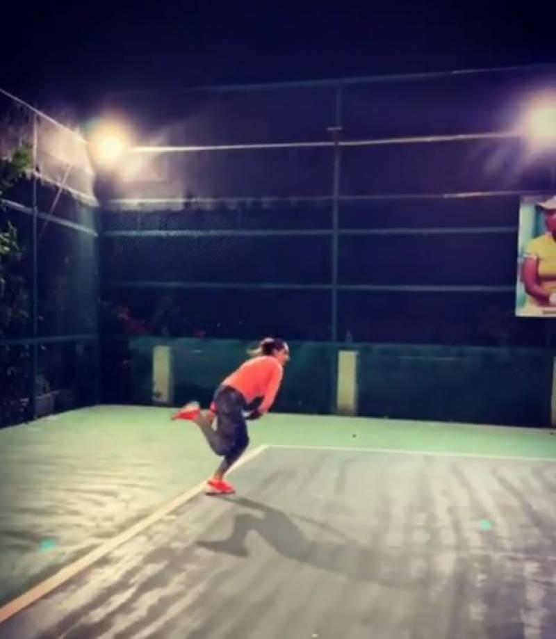 ثانیہ مرزا کی ڈیڑھ برس بعد ٹینس کورٹ میں واپسی،ویڈیو وائرل